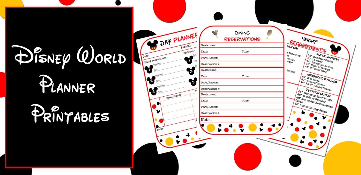 disney world planner template