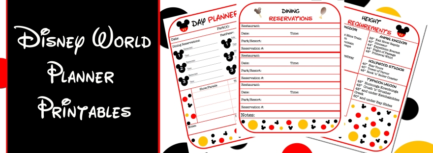 Free Disney World Planner Printables