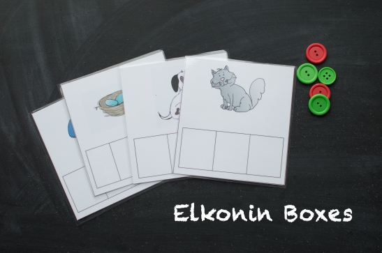 elkonin boxes buttons