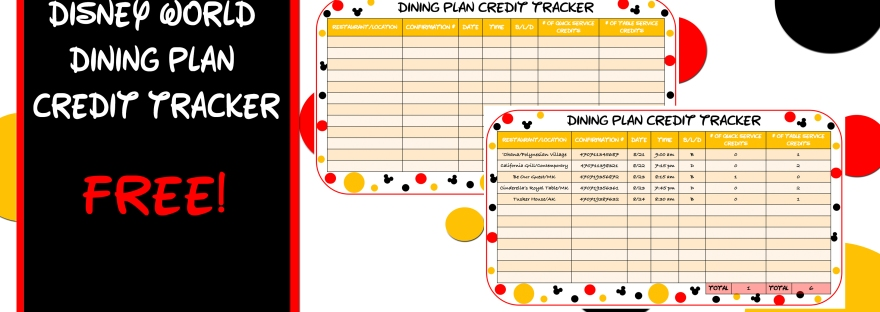 is the disney dining plan worth it and a free table to track your
