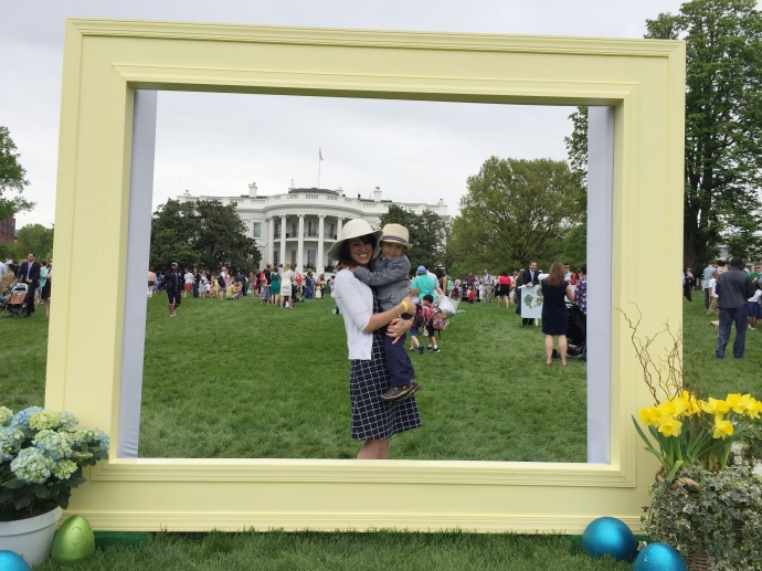 easter egg roll white house frame