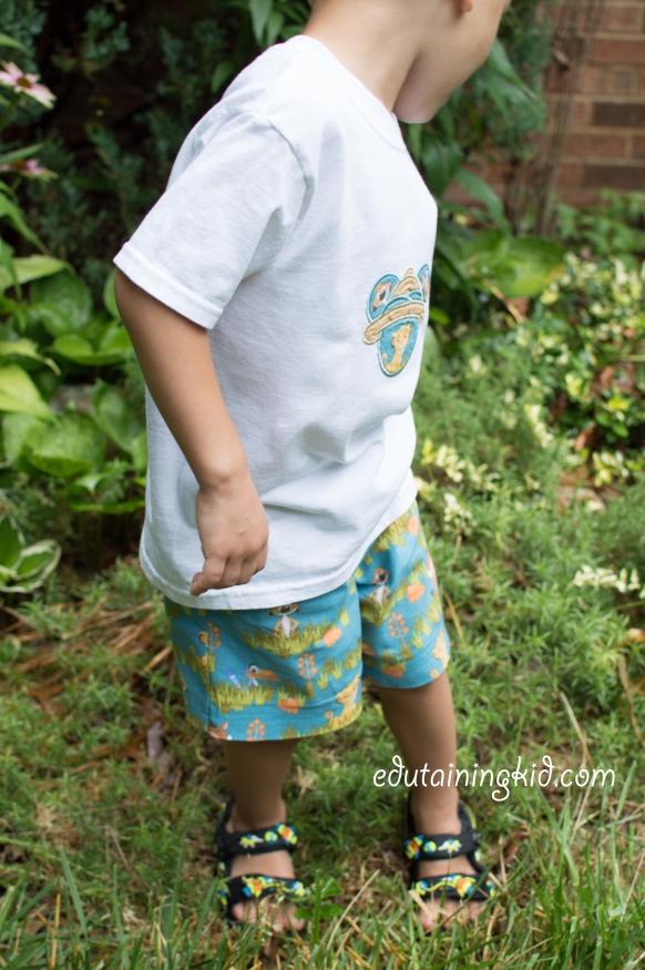 Easy DIY Disney Kid Shorts