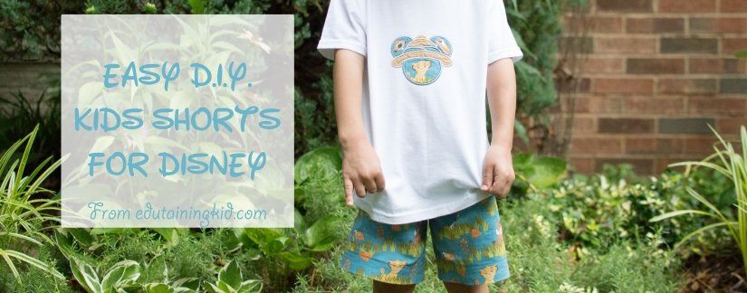 Easy DIY Kids Shorts for Disney Feature
