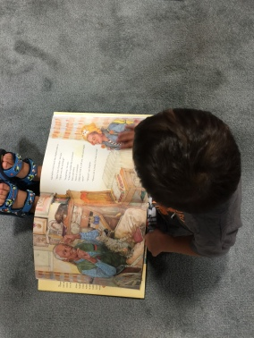 Checking out our new book illustrated by Jerry Pinkney.