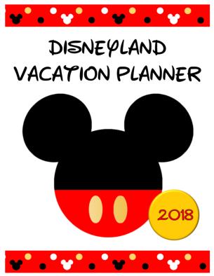 Disneyland 2018 Planner Cover