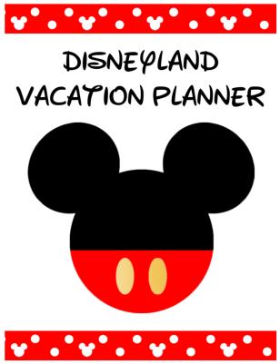 Disneyland Planner Cover