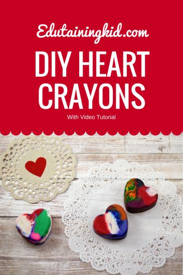 DIY Valentine Heart Crayons