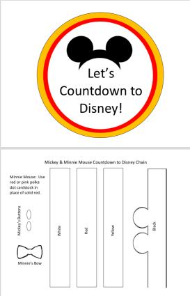 Disney Countdown PDF