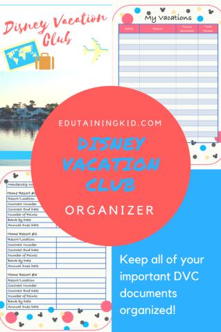 disney vacation club free organizer