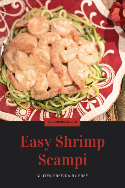 gluten free dairy free shrimp scampi
