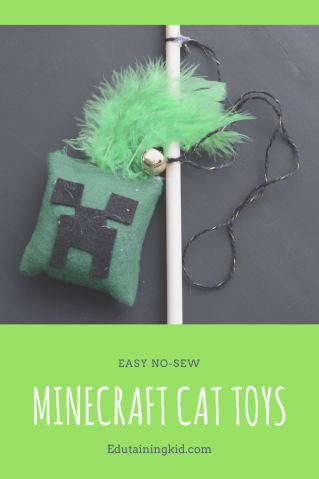 Easy No-Sew Minecraft Cat Toys