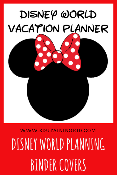 Minnie Mouse Disney World Planning Binder Covers
