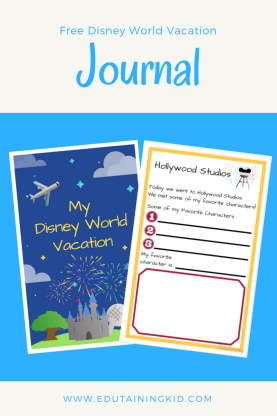 Free Disney World Vacation Journal
