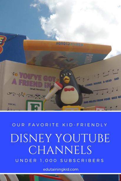 Small kid-friendly disney youtube channels