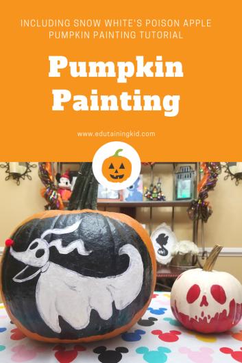 Snow White Poison Apple Pumpkin Painting